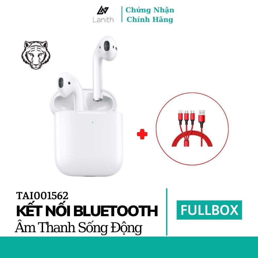 Combo tai nghe bluetooth không dây Lanith air.pods 2 Hổ Vằn và dây cáp sạc 3 đầu - Âm bass to rõ, trầm ấm - Hàng nhập khẩu - TAI01562.CAP0001