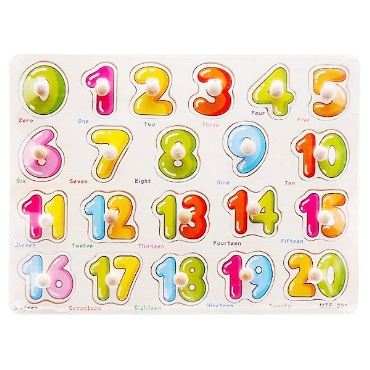 Combo đồ chơi học toán bằng gỗ cho bé gồm bảng 20 số có núm và que tính MK0071
