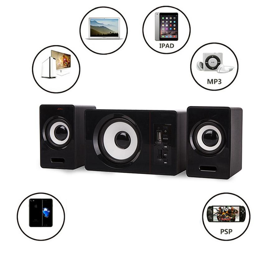 Bộ 3 Loa Vi Tính D-200D Hỗ Trợ Bluetooth USB Thẻ Nhớ Âm Thanh Sống Động Để Bàn Cao Cấp