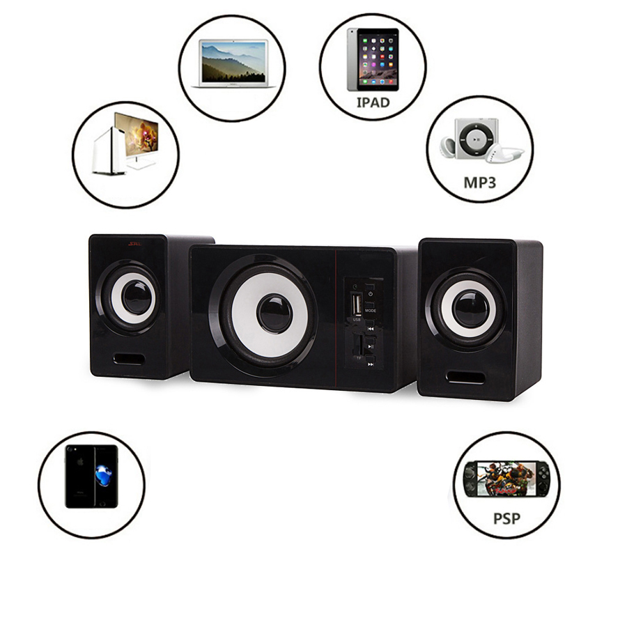 Bộ 3 Loa Vi Tính D-200D Hỗ Trợ Bluetooth USB Thẻ Nhớ Âm Thanh Sống Động Để Bàn Cao Cấp + Bàn Phím Giả Cơ Full Led Cao Cấp (Màu Ngẫu Nhiên)