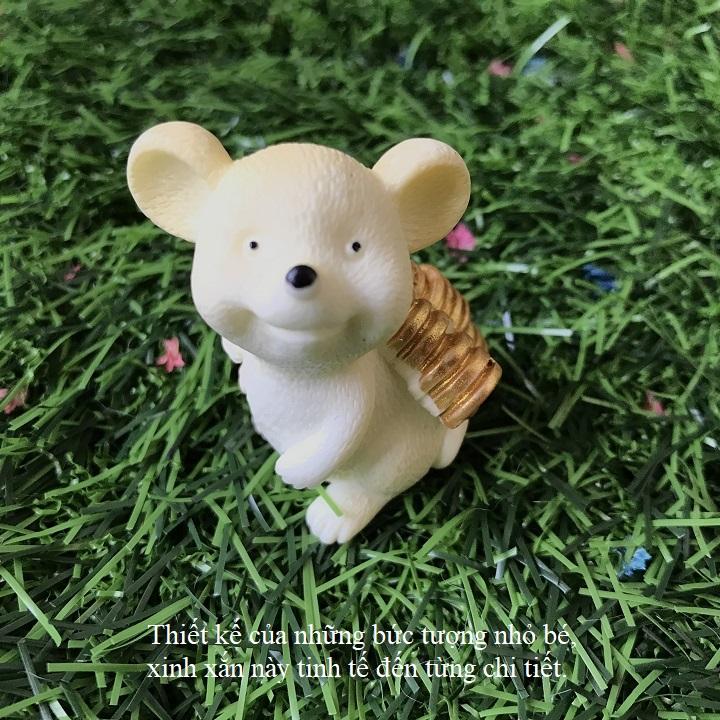 Tượng chuột bằng nhựa siêu dễ thương, giao mẫu ngẫu nhiên - TMT Collection - SP000265