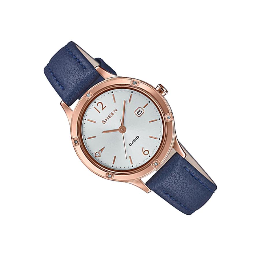 Đồng hồ nữ dây da Casio Sheen chính hãng SHE-4533PGL-7BUDF
