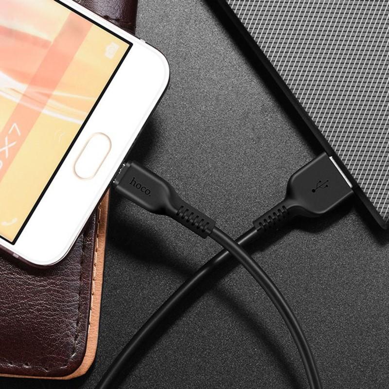 Cáp USB to MicroUSB X20 chính hãng Hoco 1,2m (màu ngẫu nhiên)