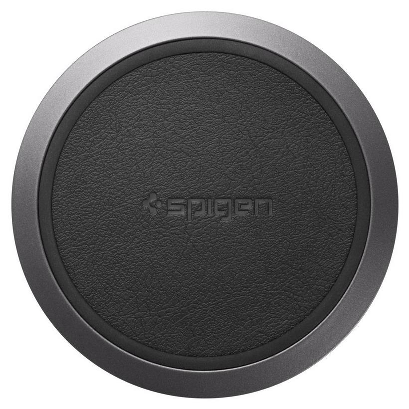 Đế sạc Spigen Essential F308W Wireless Fast Charger Black (10W) - Hàng chính hãng