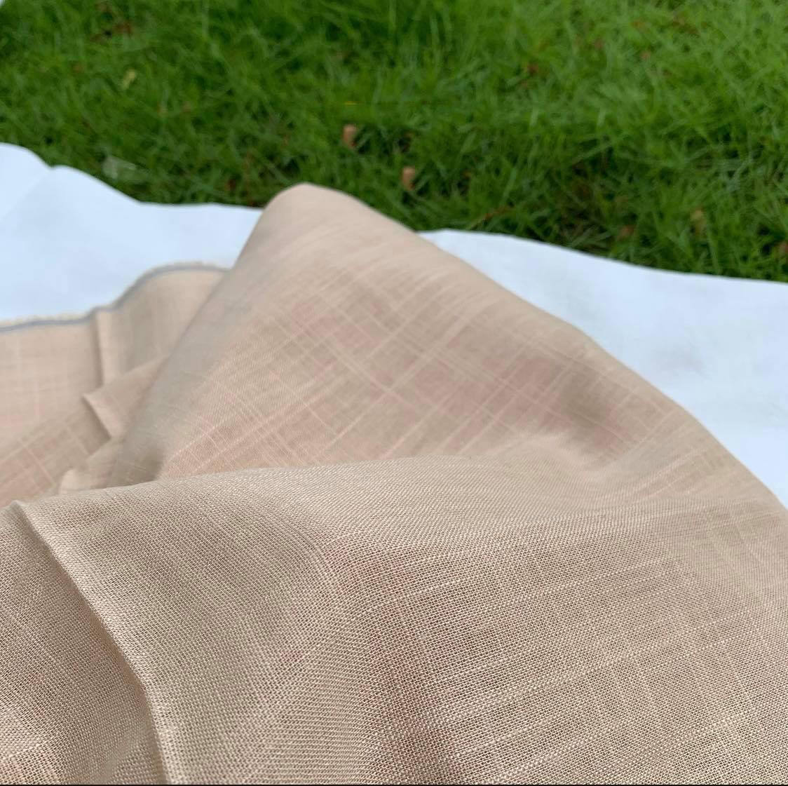 Vải Chất Liệu Linen Gân Acescor khổ 200cm x 140cm - Dùng Để May Trong Thời Trang Như Váy, Đầm, Đồng Phục, Áo