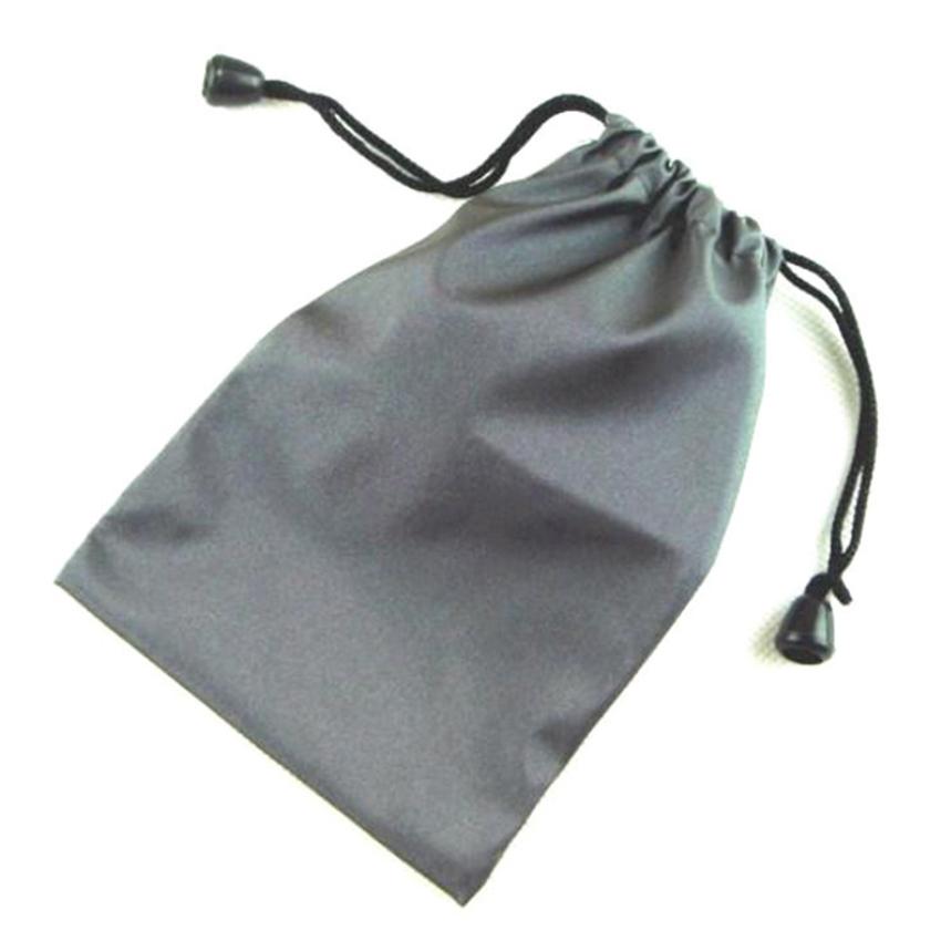 Túi rút đựng tai nghe cáp sạc 15x10 cm (Xám đen) - Hàng chính hãng