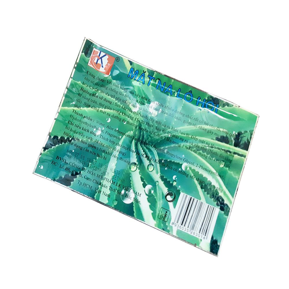 Combo 10 miếng mặt nạ dưỡng da LK chiết xuất Lô Hội 50g (Aloe Vera Mask 50g)