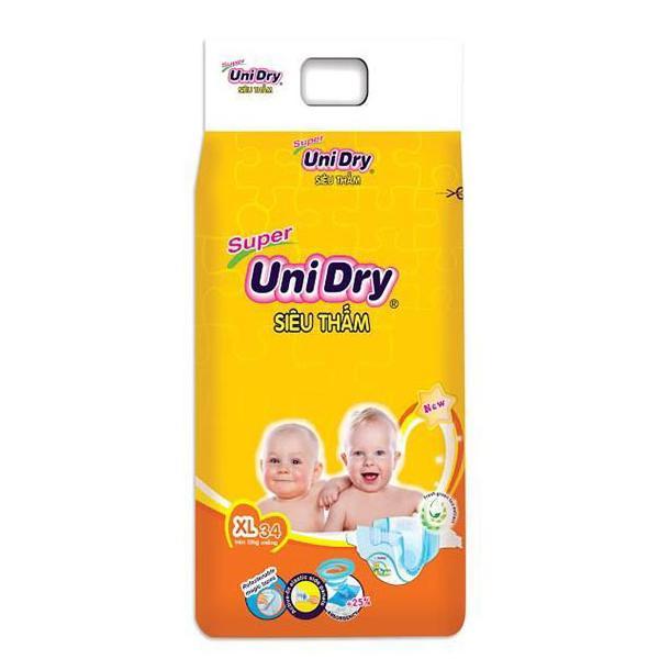 Tã Dán UniDry Super Gói Đại XL34 (34 Miếng)