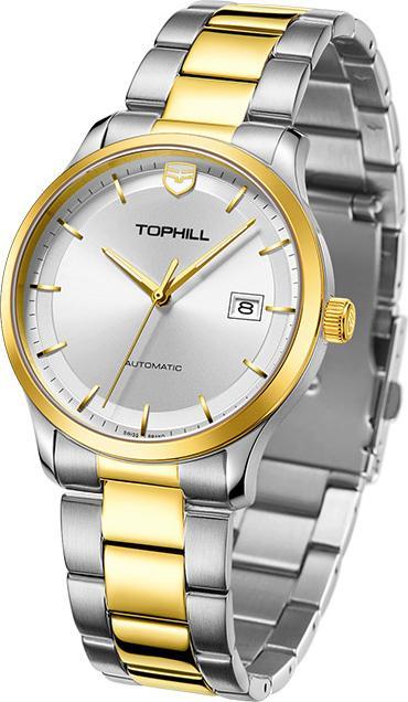 Đồng hồ nam máy cơ tự động chính hãng Thụy Sĩ TOPHILL TW076G.S6658