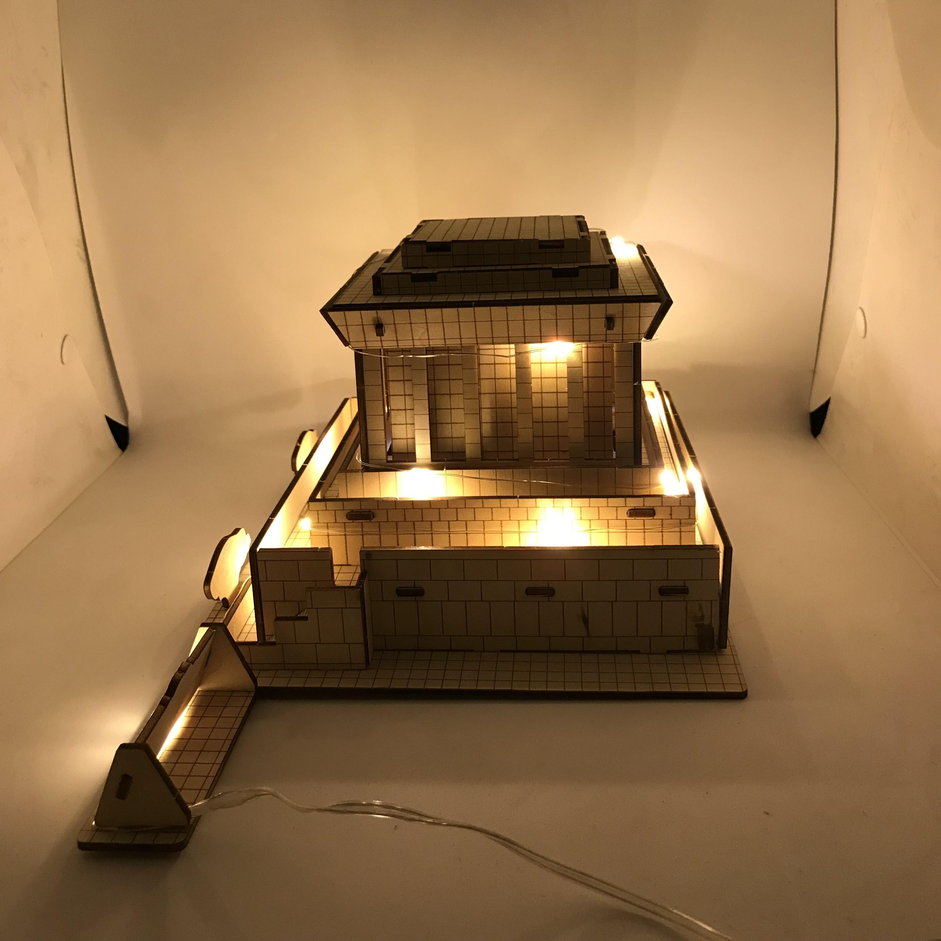 Đồ chơi lắp ráp gỗ 3D Mô hình Lăng Chủ tịch Hồ Chí Minh - Mô hình Lăng Bác Hồ - Tặng kèm Đèn LED