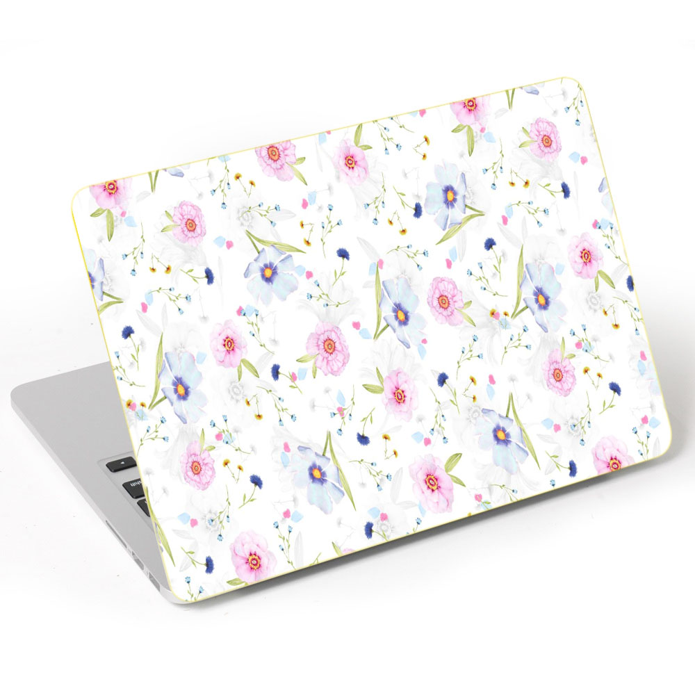 Miếng Dán Trang Trí Mặt Ngoài + Lót Tay Laptop Hoa Văn LTHV - 397