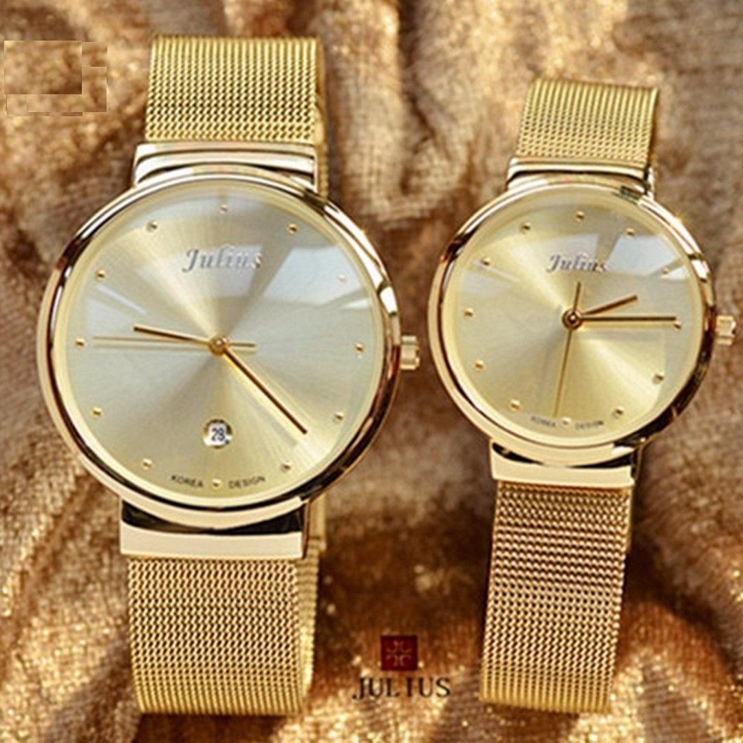 Đồng hồ đôi Julius dây thép mỏng JA426