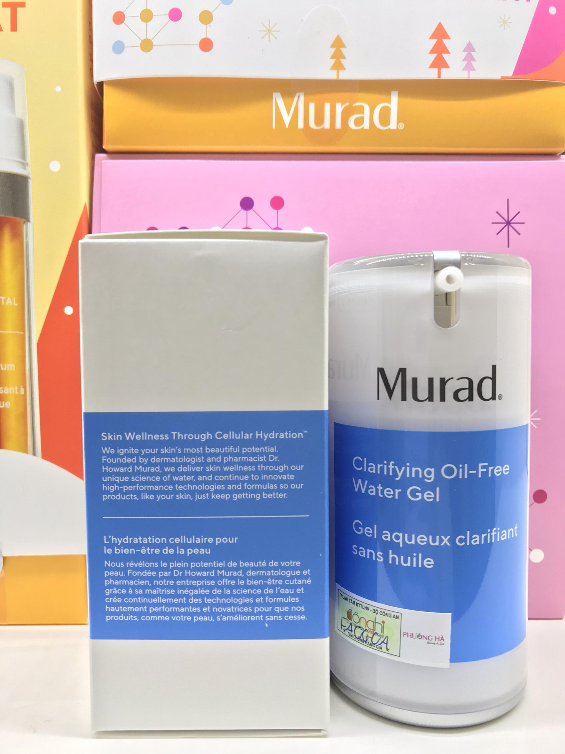 [KHUYẾN MÃI] Mua Gel dưỡng cách ly vi khuẩn Murad Clarifying Oil-Free Water Gel TẶNG Gel giảm mụn 4 giờ Murad Rapid Relief Acne Spot Treatment