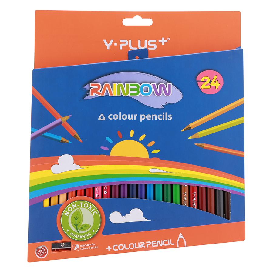 Hộp Bút Chì Màu Gỗ Rainbowl Có Chuốt (24 Màu) Y PLUS+ PC110412_RB
