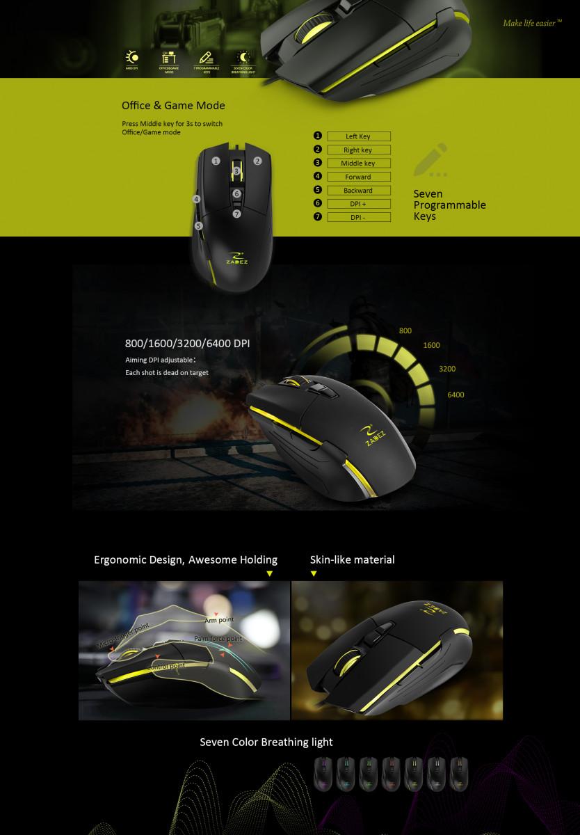 Chuột Gaming ZADEZ G-152M - Hàng Chính Hãng