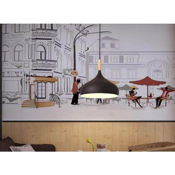 Tranh dán tường trang trí quán cà phê TC47(100x150)