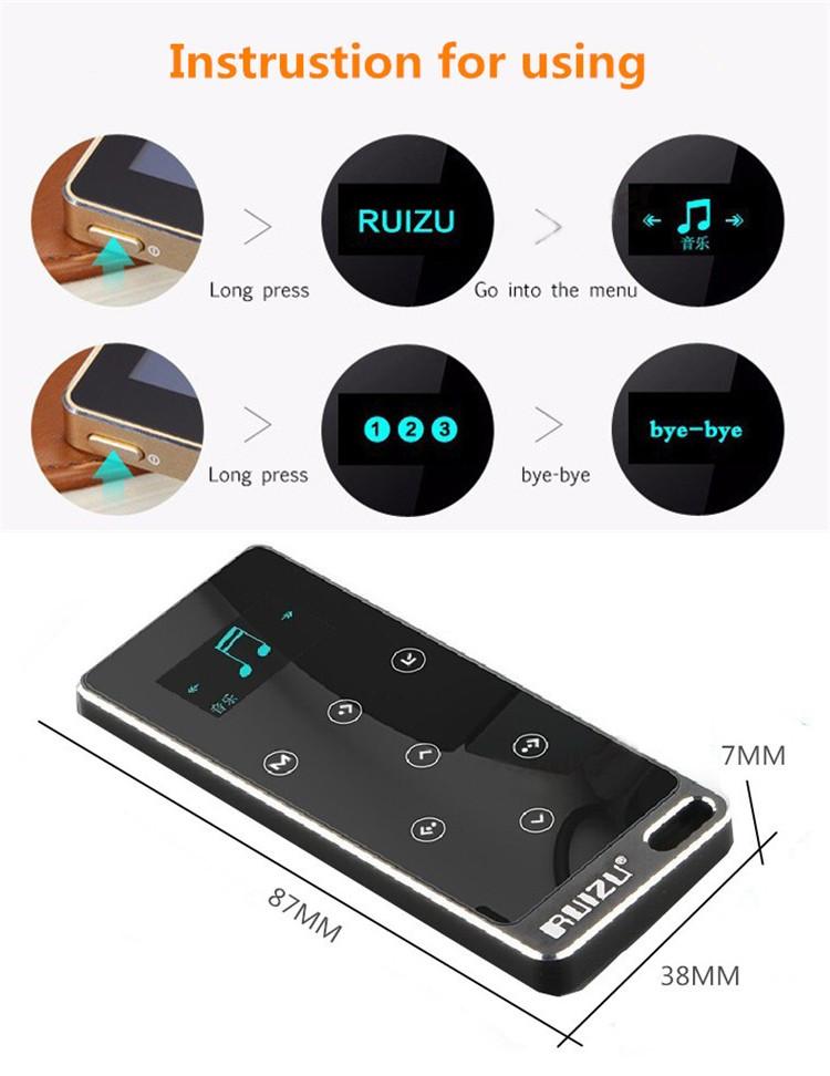 Máy Nghe Nhạc Cảm Ứng Ruizu X05 Bộ Nhớ 8GB- Hàng Chính Hãng