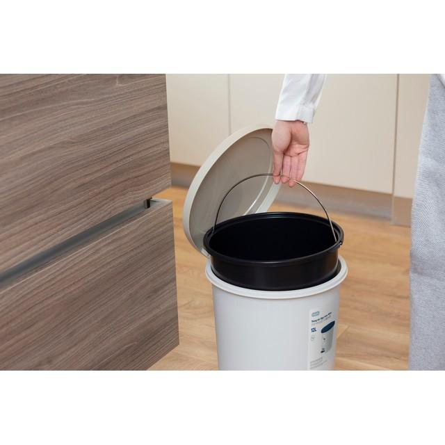 Thùng Rác Nhựa Cao Cấp Đạp Chân Nắp Đậy Tròn 12 Lít Inochi Nhật Bản (291 x 282 x 345 mm) - Giao màu ngẫu nhiên