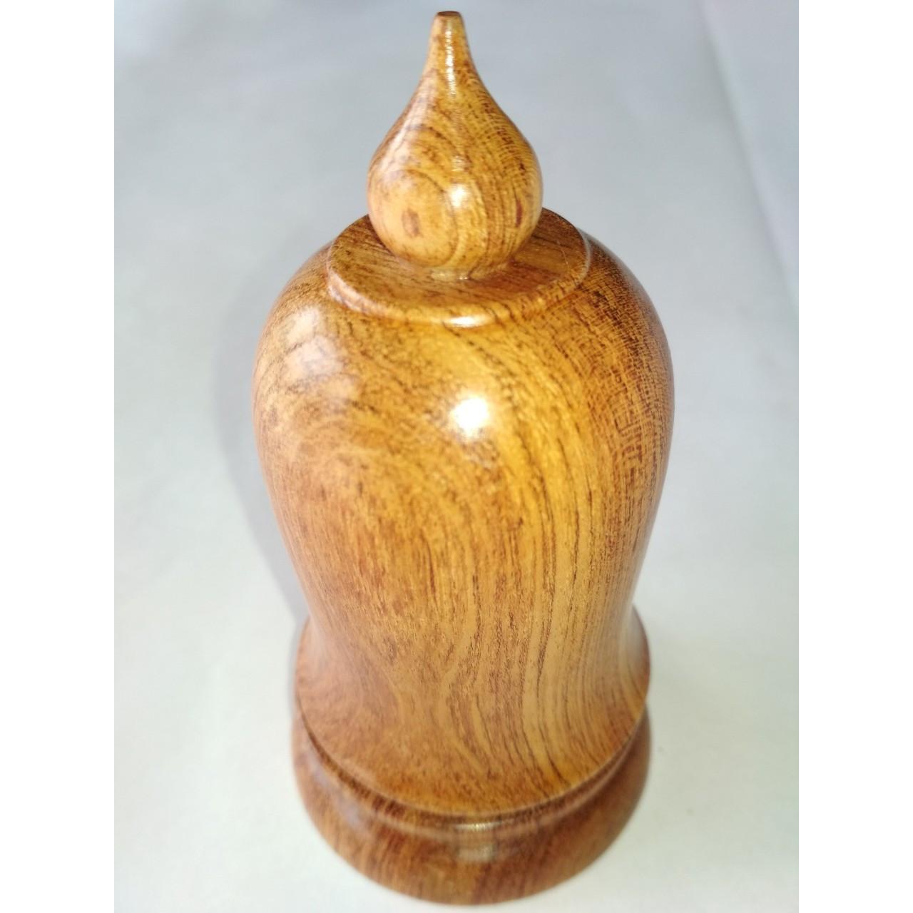 Lọ tăm gỗ hương đá hình quả chuông.