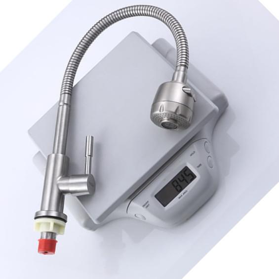 Vòi bếp đơn lạnh Inox 304 Cao Cấp Xoay 360 độ