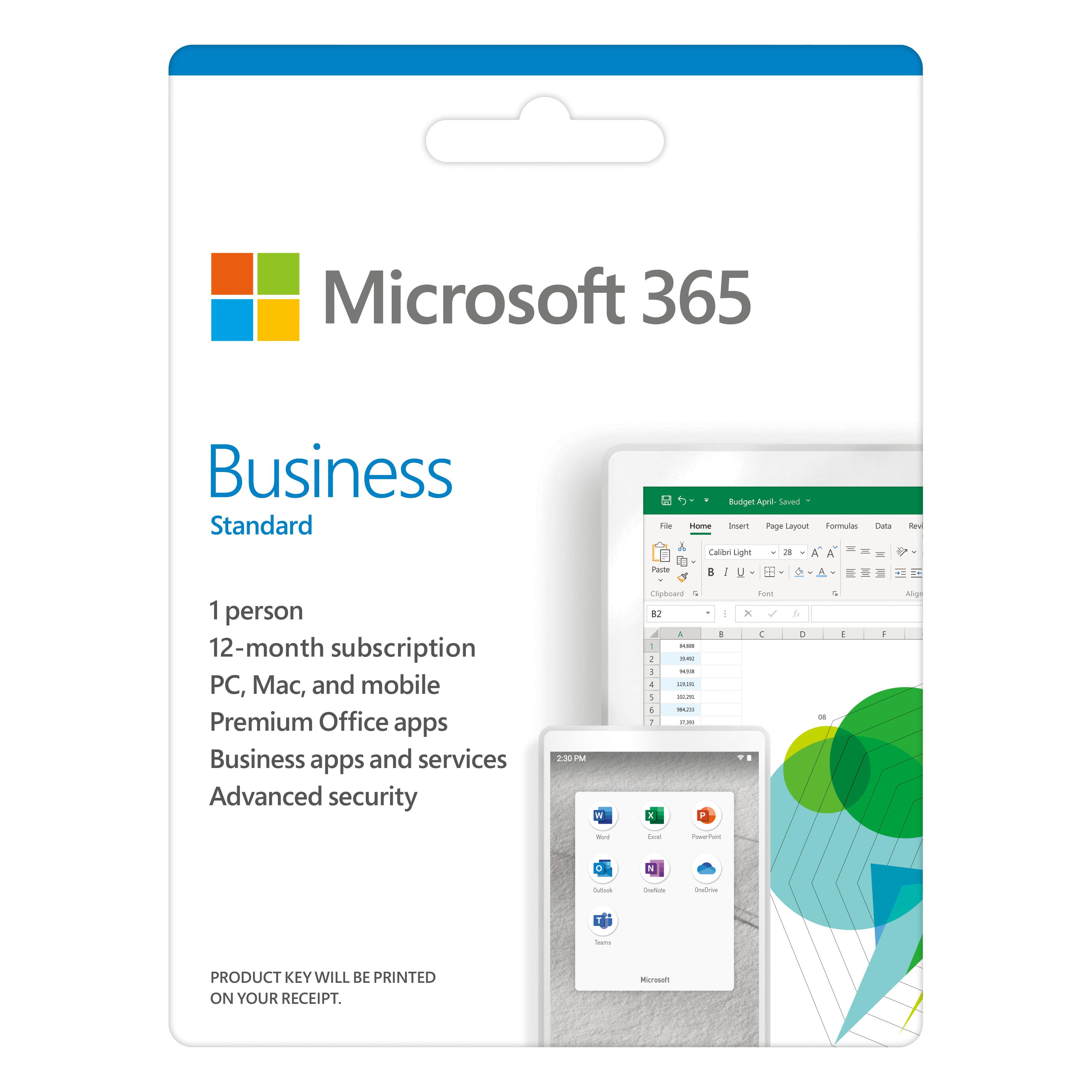 Phần mềm Microsoft 365 Bus Std Retail English APAC EM Subscr 1YR Mdls P6 (KLQ-00454) - Hàng Chính Hãng