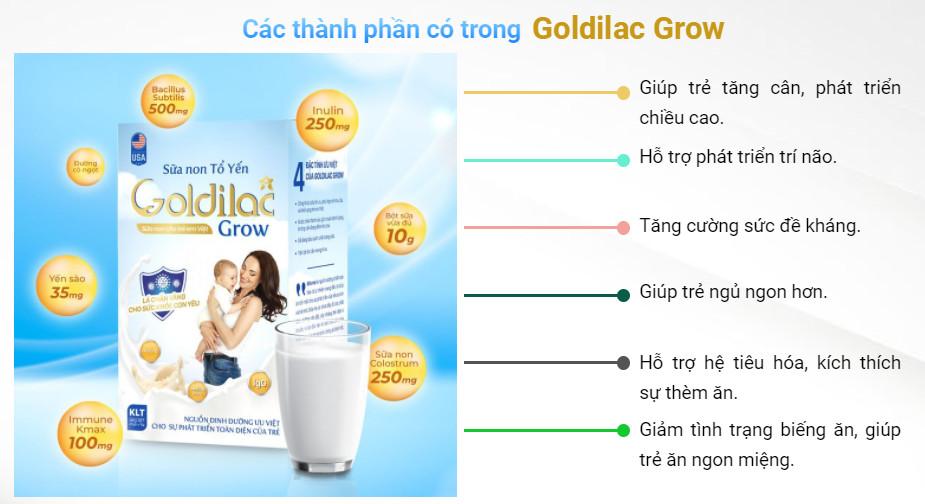Combo 3 Hộp Sữa Non Tổ Yến Goldilac Grow