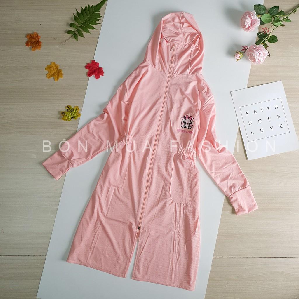 Áo chống nắng thông hơi trẻ em dáng dài, chống tia UV, làm mát, kháng khuẩn, HL006