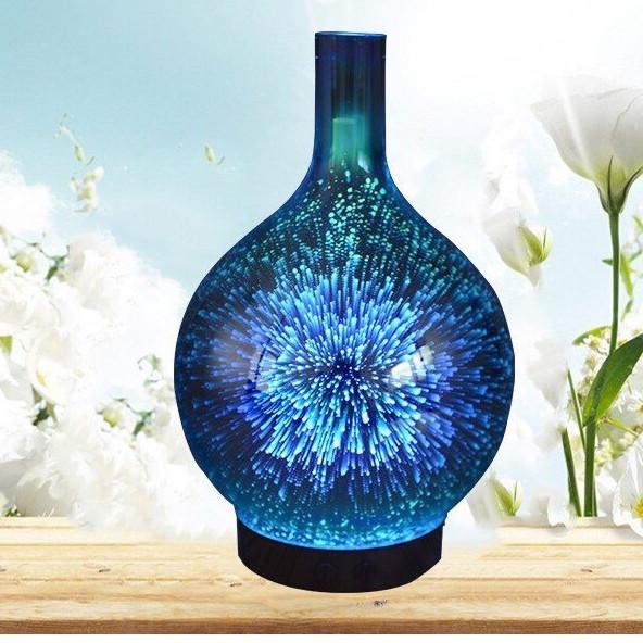 Đèn xông, Phun sương, Khuếch Tán tinh dầu hình lọ hoa 3D đẹp 150ml