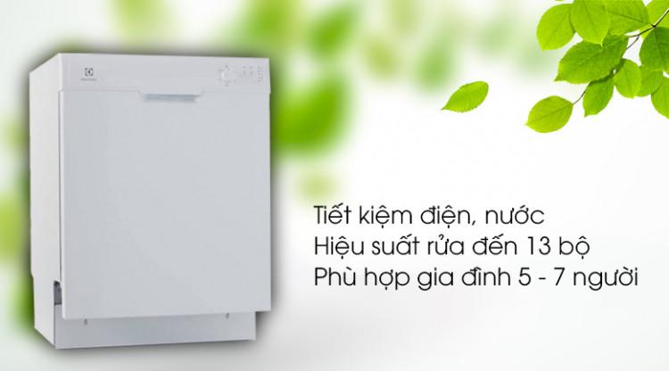Hiệu suất sử dụng cao nhưng khả năng tiết kiệm điện và nước tốt - Máy rửa bát Electrolux ESF5206LOW 1950W