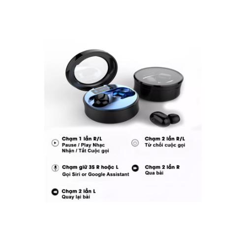 Tai nghe bluetooth không dây TWS R11 - Pin Trâu - Kháng Nước IPX5- Bluetooth 5.0- Sạc Type-C -Màn Hình LED- Có Cảm Ứng