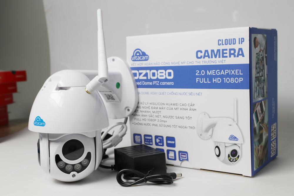 Camera IP Wifi Vitacam DZ1080 - Ngoài trời Speed Dome Xoay 360 độ PTZ 2.0mpx Full HD 1080P - Hàng chính hãng