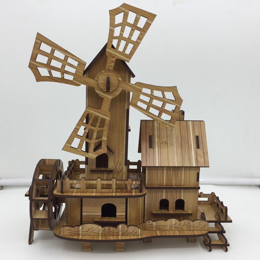 Đồ chơi lắp ráp gỗ 3D Mô hình Cối Xay Gió R-9094