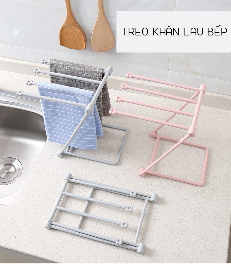 Giá treo khăn lau bếp giúp sạch sẽ