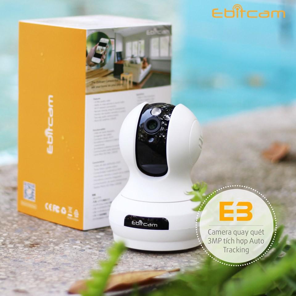 Camera Ip Wifi EbitCam E3 ( 2MP)  Full HD 1080P - Hàng nhập khẩu