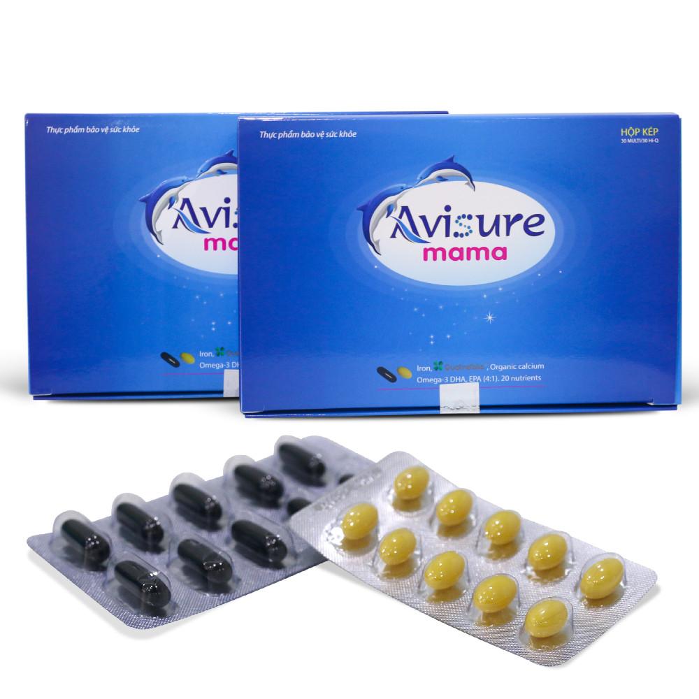 Combo 2 hộp vitamin tổng hợp cho bà bầu Avisure mama   Tiki