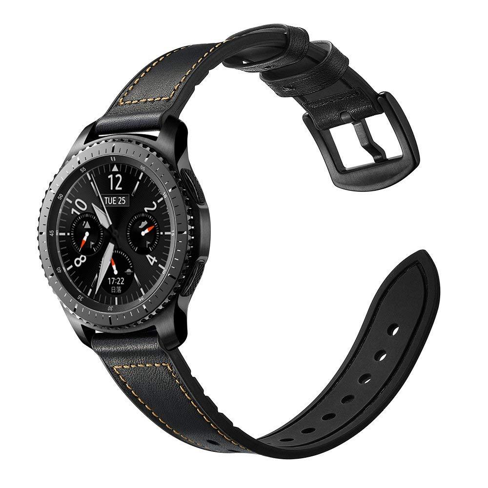 Dây da Hybird Size 22 cho Gear S3, Galaxy Watch Vintage