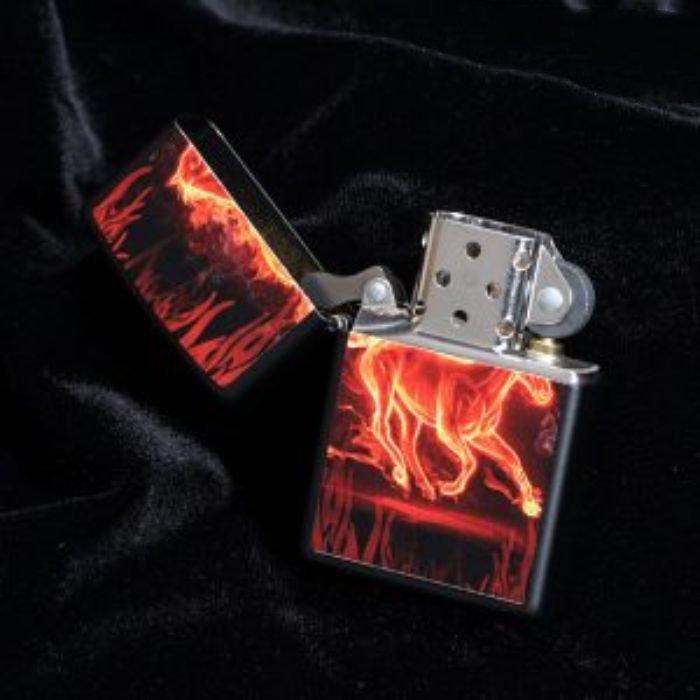 Bật Lửa Zippo Horse Flaming Black Matte Chính Hãng Usa
