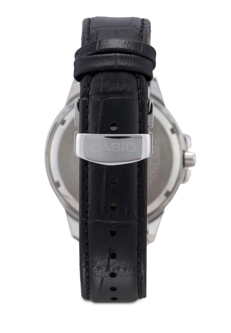 Đồng Hồ Nam Casio MTP-EX100L-7AVDF - Chính Hãng - Dây Da Cao Cấp Màu Đen - Mặt Đồng Hồ Màu Trắng