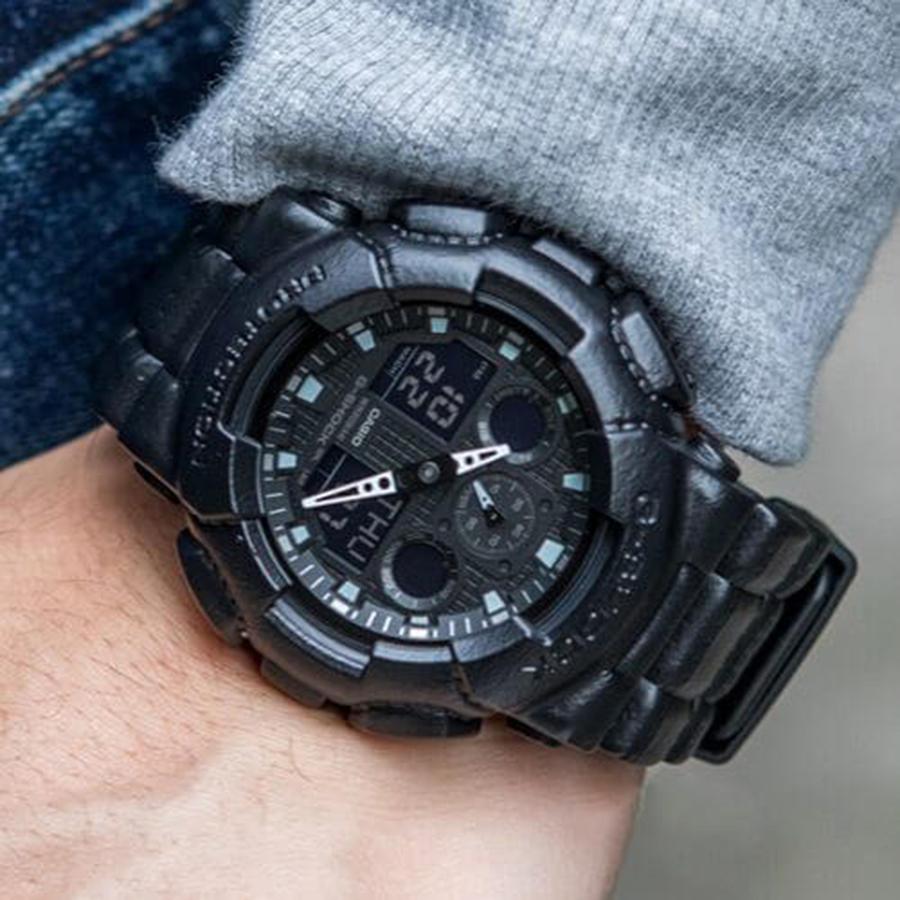 Đồng hồ nam dây nhựa Casio G-SHOCK GA-100BT-1ADR