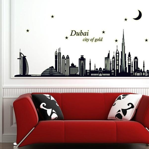 Decal dán tường Dạ Quang Phát Sáng Dubai - SS62