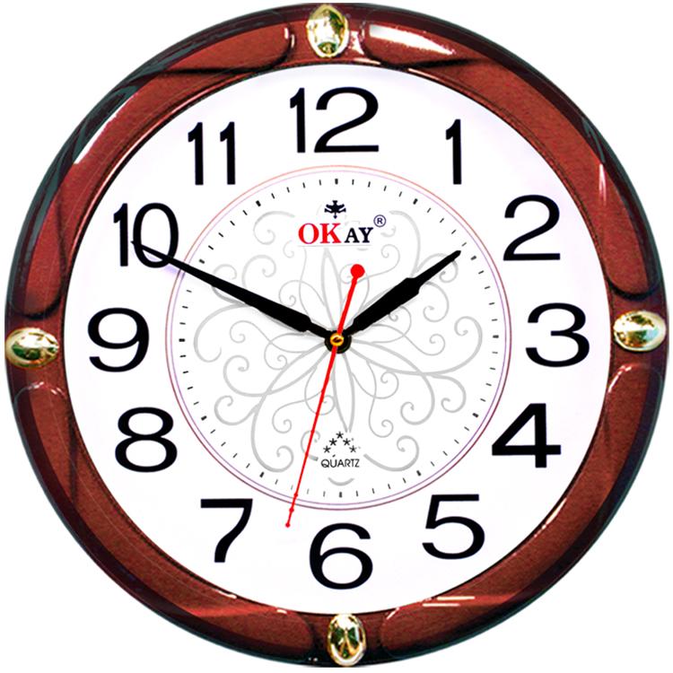 Đồng hồ treo tường thiết kế đẹp OKAY 202