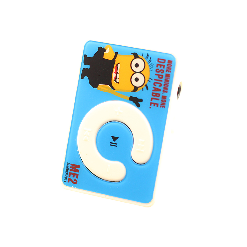 Máy nghe nhạc mp3 chữ C họa tiết hình Minion tinh nghịch tặng tai nghe và dây sạc