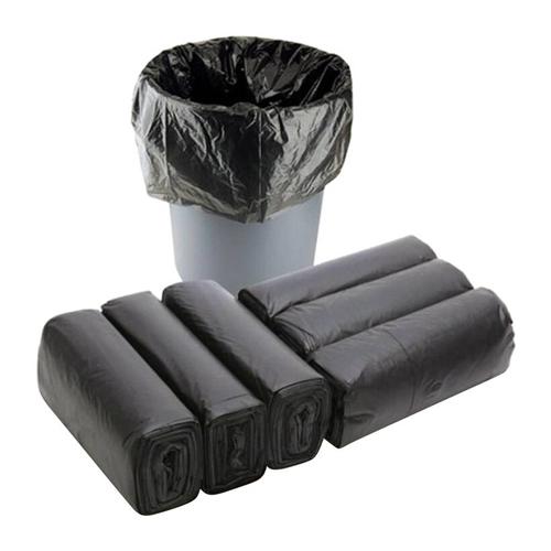 6 cuộn Túi đựng rác gia đình, Bao đựng rác văn phòng tiện lợi màu đen size trung 55x65