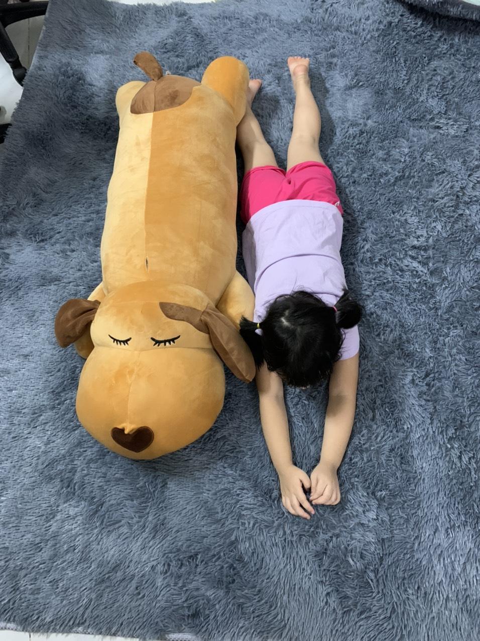 Gấu Bông Ôm Cho Bé Cún Lười Ngủ Dài 110cm