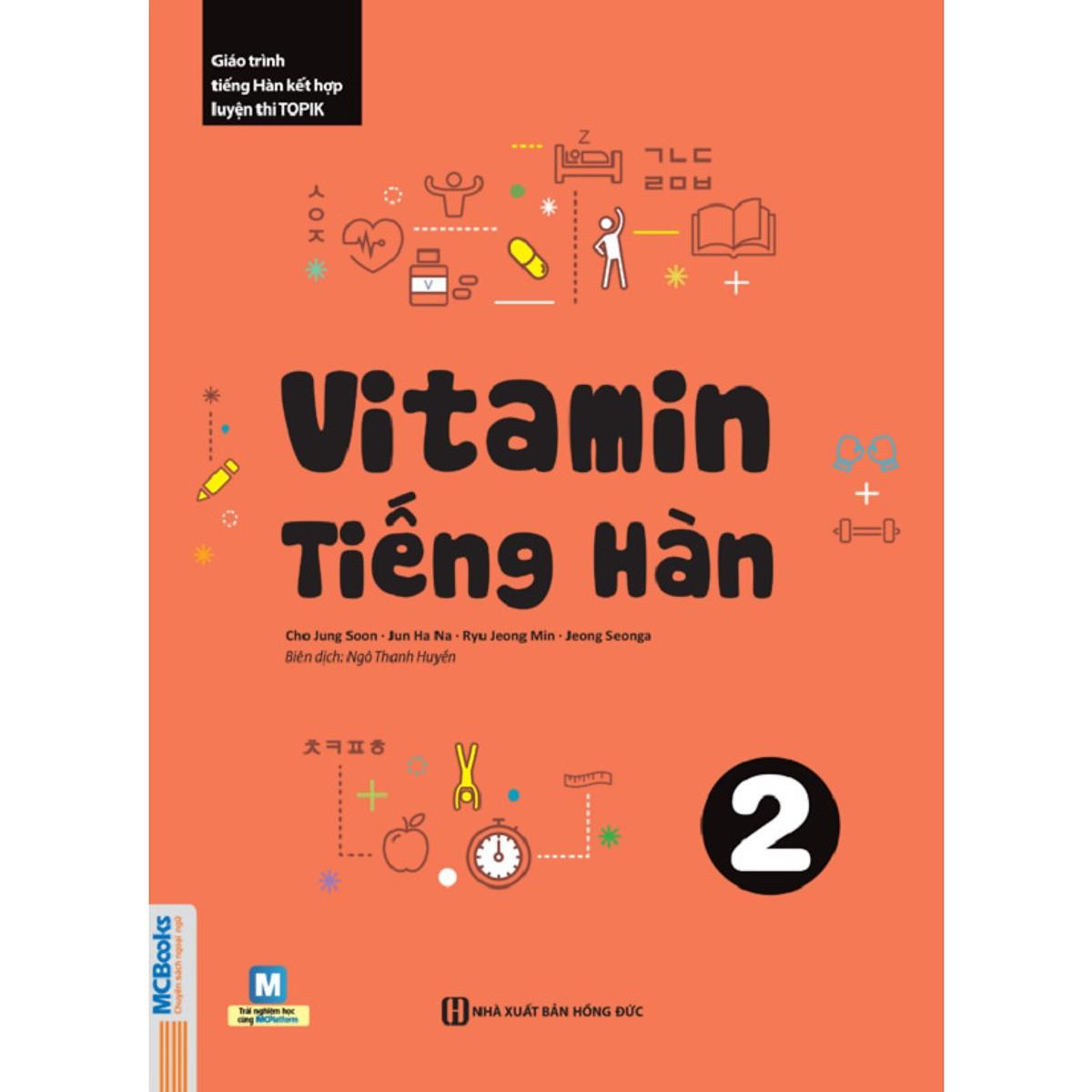 Vitamin Tiếng Hàn 2 (Học Kèm App: MCBooks Application) tặng kèm bút tạo hình ngộ nghĩnh