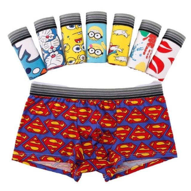 Set 4 quần lót bé trai size 35-> 85kg chất thun lạnh cao cấp