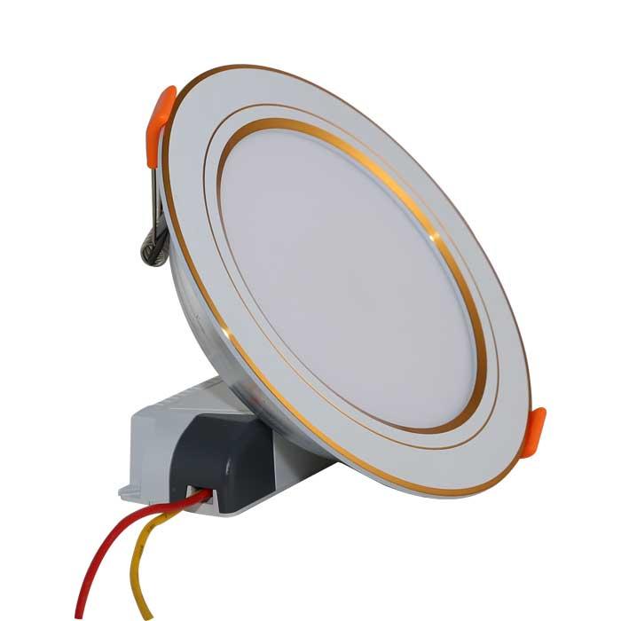 Đèn led âm trần đổi màu 7W Rạng Đông viền vàng, D AT10L DM 90/7w (G)