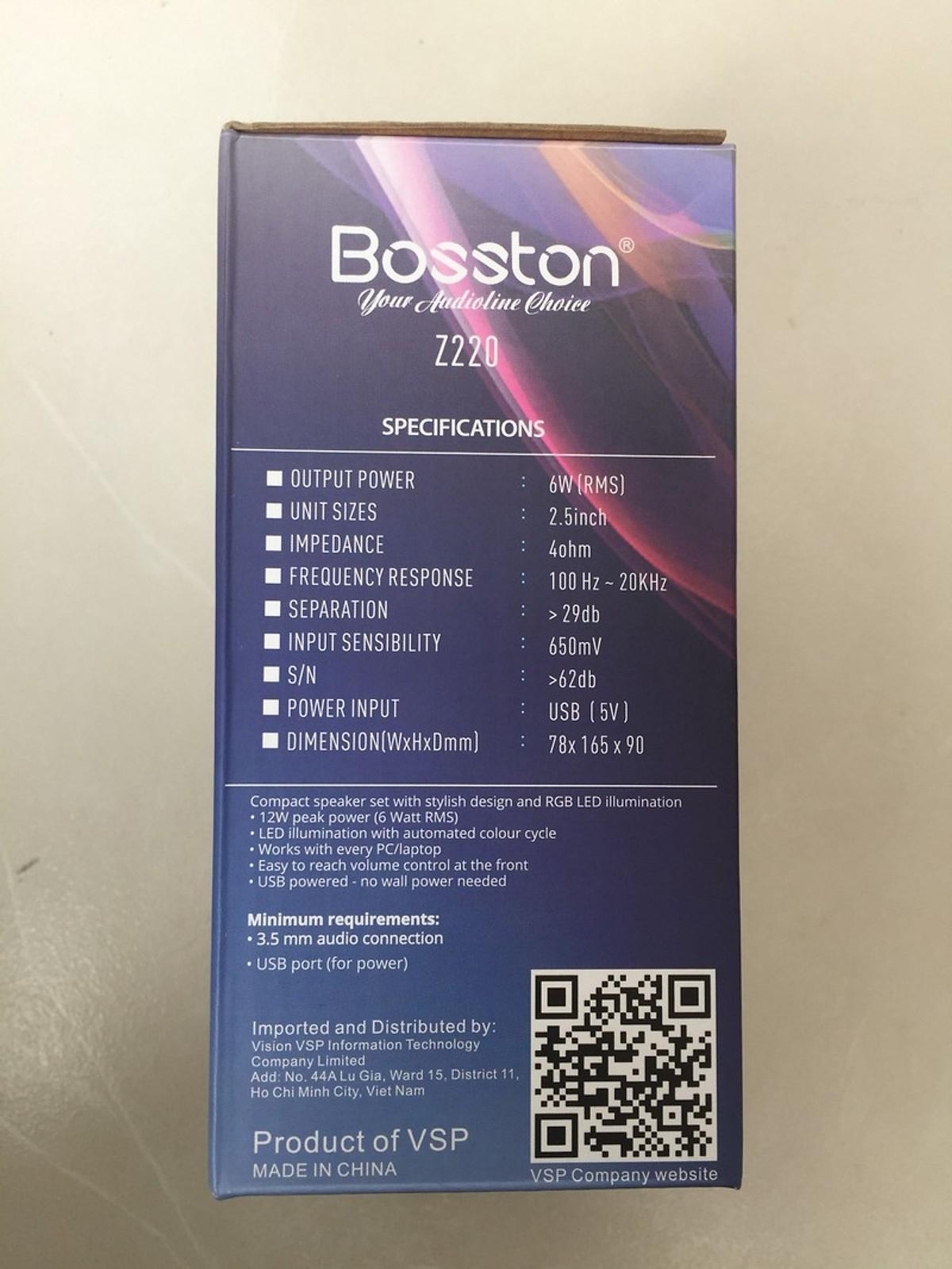 Loa Máy Tính Bosston Z220 Âm Sắc Đa Dạng Có Led RGB - Hàng Chính Hãng
