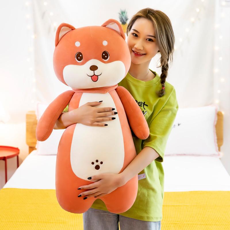 Gấu Bông Chó Bông Dài Shiba Đeo Khăn