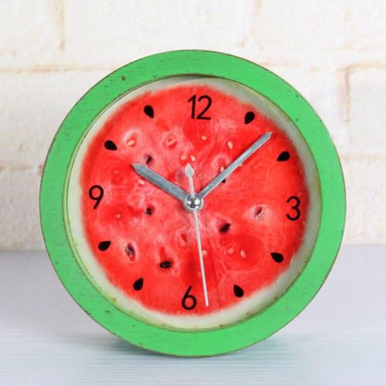 Đồng hồ báo thức để bàn trái dưa hấu mini 6cm
